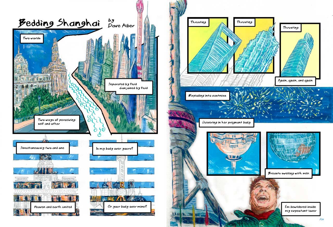 Bedding Shanghai comic, two page spread