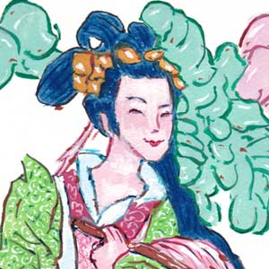 Lady He (He Xiangu) of the Eight Immortals